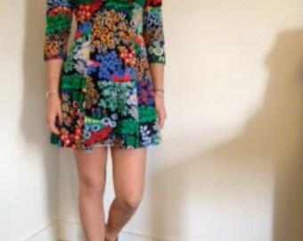 Printed 90's babydoll dress