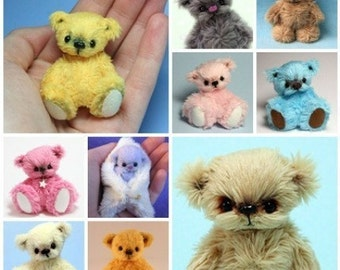 Miniature Teddy Bear E-Pattern Instant Download