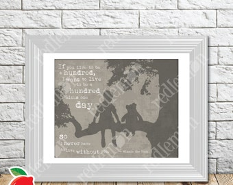 The Wisdom of Pooh Sentiment Nursery Print Grey