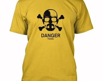 Heisenberg Toxic Danger T-shirt Breaking Bad fan funny Tee Shirts S-3XL