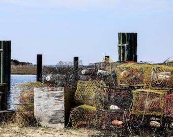 Glossy Print: Crab Pots in Rodanthe, NC