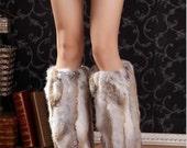 Black Brown Grey real rabbit fur leg warmer womens leg warmers leg wraps baby girl leg warmers length 20cm ,30cm ,40cm