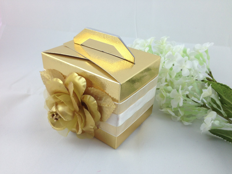 24 Gold favor box cake box Wedding Bridal shower