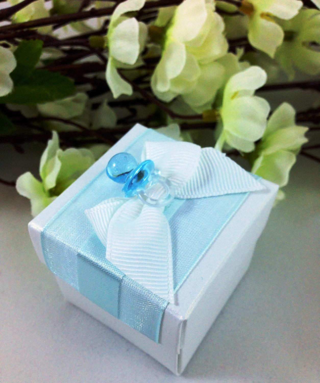 Favour Boxes Baby Blue : Baby blue favor box shower