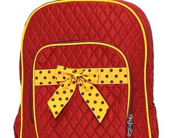 Personalized Quilted Backpack