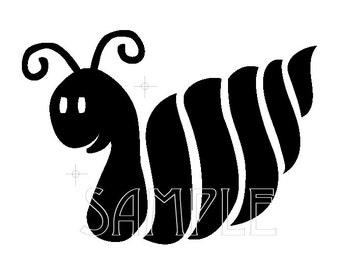 Snail Graphic Image Stencil