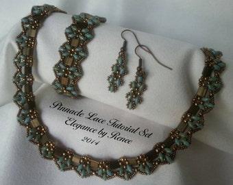 Pinnacle Lace Set (Necklace, Bracelet & Earrings) - Tutorials - 3 PDF Instant Downloads