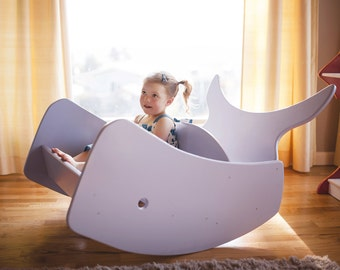 Whale of a Time Double Rocking Chair FREE SHIPPING