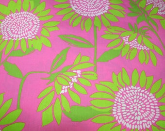 Soliel cotton poplin  9 X 18 or 18 x 18 inches ~Lilly Pulitzer~