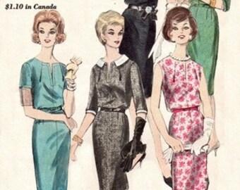 Vogue 5342 Rich & Famous One-Piece Dress / ca. 1962 / SZ16.5 UNCUT