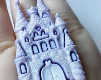 Customizable kawaii pastel goth castle ring!