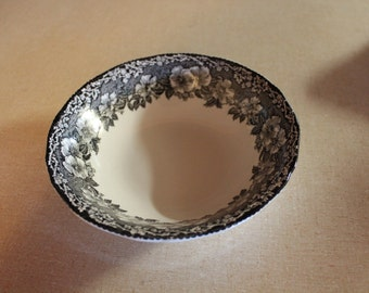 Vintage  black and white bowl