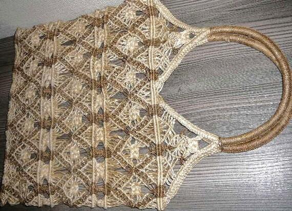 macrame scandinaves sac plage sac shopping bag 67. Black Bedroom Furniture Sets. Home Design Ideas
