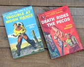 Pulp Westerns, Paperback Books, Collectible, Cowboy Adventure, Shoot-Outs, Hangings, Six-Guns