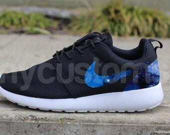Free Shipping Nike Roshe Run Black Gamma Grey Galaxy