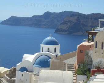 Santorini Photograph, Ready to Frame, Many sizes available