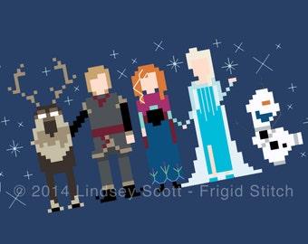 Disney Frozen Cross Stitch PATTERN -  PDF Instant Download
