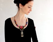 The Perfect Desert Look -bib-necklace Afghan Kuchi ethnic tribe pendent Bedouin embroidery