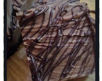 ARTISANAL FUDGE - Plain Chocolate Fudge - 1 Lb. Plain Chocolate Fudge - Homemade Fudge - Candy -
