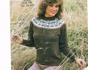 Knitting Jumper Pattern : Sweater pattern for girls jumper round neck