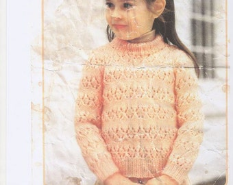 Girls Lacey Cardigan, Lacey Girls Cardigan Pattern, Girls Cardigan Pattern, Girls Button Up Cardigan. Knitting Pattern Only.