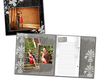 12x12 Wedding Guest Book Template - MONOCHROMATIC GUEST BOOK - Digital File
