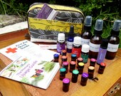 Natural Essential Oil First Aid or Travel Bag - Forest Stripes