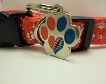 """Grateful Dead 1"""" Pet Charm Blank back for Engraving (we do not offer these services)"""