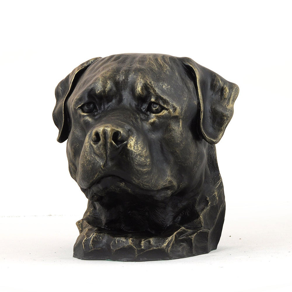 rottweiler dog big head statue limited edition by. Black Bedroom Furniture Sets. Home Design Ideas