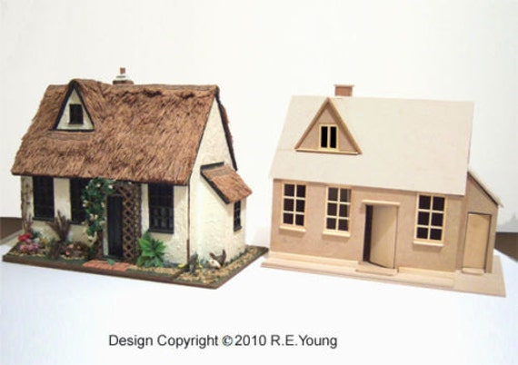 Dolls House Country Cottage 1 24th Scale Plans