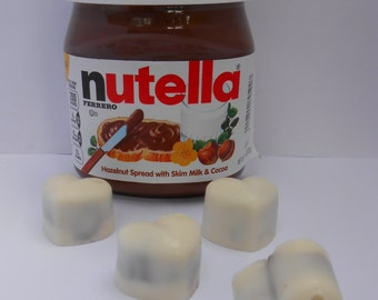 Nutella White Chocolate Hearts