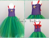Disney Ariel (Little Mermaid) inspired tutu dress costume. Princess dress up