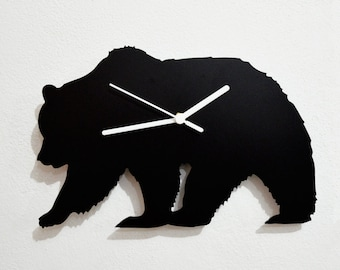 Bear Silhouette - Wall Clock