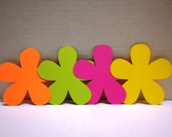 50 Bright Color Die Cut Flowers -Scrapbooking, Flowers, Die Cuts, Die Cut Flowers, Craft Supplies-DCFB-34