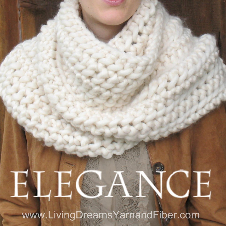 ELEGANCE Outlander Cowl Pattern Written Pattern w. Photo