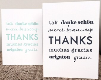 "Single ""Thanks"" Greeting Card"