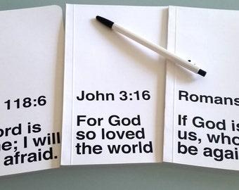 Custom Bible Study Notebook, Original Handmade Large Journal, Inspirational Christian Scripture, Lined Paper, Personalize