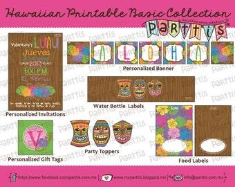 Hawaiian Party Printable Collection BASIC