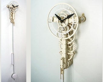 UNDECIMUS a paper and cardboard clock kit.