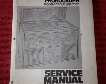Rock Ola 470 Jukebox Service manual Original