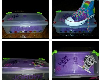 Customized shoe boxes