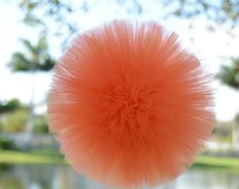 "Orange Tulle Pom large 12"""