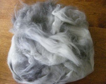 Plucked Black Angora Fiber - 2 ounces