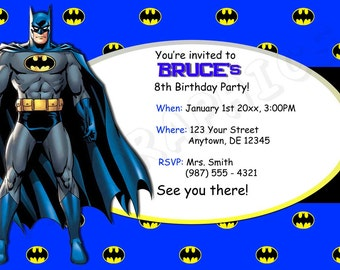 Batman Birthday Invitation - Printable
