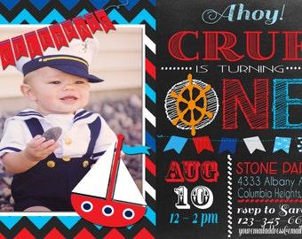 Nautical 1st Birthday Invitation