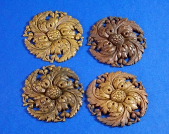 M 110 Antique Ornate Bronze Medallions 50 plus years old