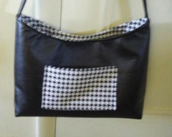 Black Houndstooth Handbag