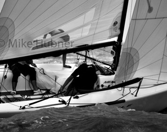 Upwind Beat - Black and White Fine Art Photography