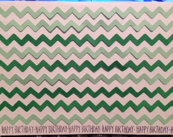 Chevron happy birthday handmade card