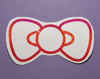Hello kitty bow decal, bow sticker, bow laptop decal